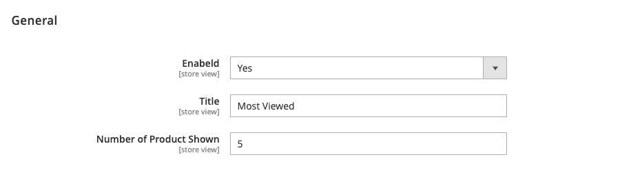Most Viewed Backend